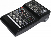 TOPP PRO MX.5 V2 компактный микшер 5 CH; 2 Bus mixing console; 1 mono; 2 stereo; 2 band EQ with 18V phatom power