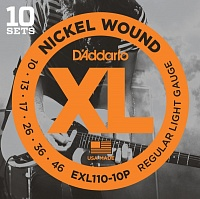 D'ADDARIO EXL110-10P Regular Light 10-46 Струны для электрогитары, 10 комплектов