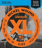 D'ADDARIO EJ22 Jazz Medium 13-56 Струны для электрогитары