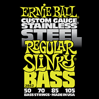 Ernie Ball 2842 струны для бас-гитары Stainless Steel Bass Regular Slinky (50-70-85-105)