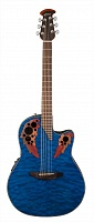 OVATION CE44P-8TQ Celebrity Elite Plus Mid Cutaway Trans Blue Quilt Maple электроакустическая гитара