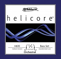 D'ADDARIO H610 3/4M струны для контрабаса HELICORE, medium tension, 3/4