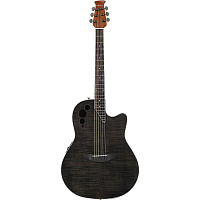 APPLAUSE AE44IIP-TBKF Elite Mid Cutaway Trans Black Flame гитара электроакустическая