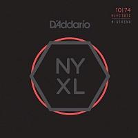D'ADDARIO NYXL1074 струны для 8-струнной электрогитары, Light Top/Heavy Bottom, 10-74