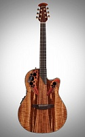 OVATION CE44P-FKOA Celebrity Elite Plus Mid Cutaway Natural Figured Koa электроакустическая гитара