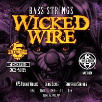 KERLY KWXB-50135 Wicked Wire Nickel Plated Steel Tempered 5 Strings струны для 5-струнной бас-гитары