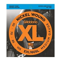 D'ADDARIO EXL160SL струны для бас-гитары, никель, 50-105, Super Long Scale