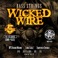 KERLY KXWB-45135 Wicked Wire Nickel Plated Steel Tempered 5 Strings струны для 5-струнной бас-гитары